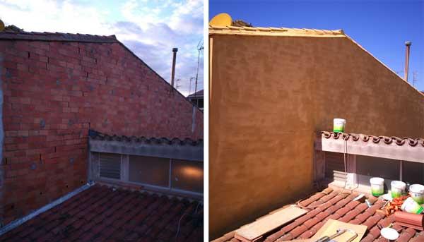 El corcho proyectado termoac stico impermeable y - Productos para impermeabilizar fachadas ...